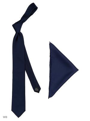 Галстук J Ploenes. Цвет: синий