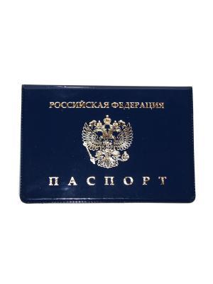 Обложка на паспорт Lola. Цвет: синий