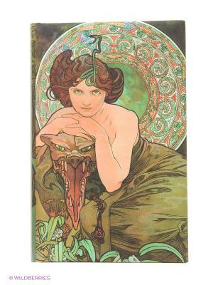 Бизнес-блокнот  Vario Арт. 05 Mucha (зел) ISBN 8595230622181 ст. 30 КОНТЭНТ. Цвет: белый