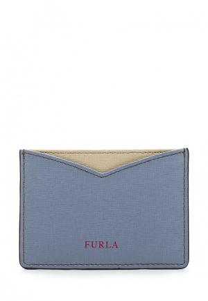 Визитница Furla. Цвет: голубой