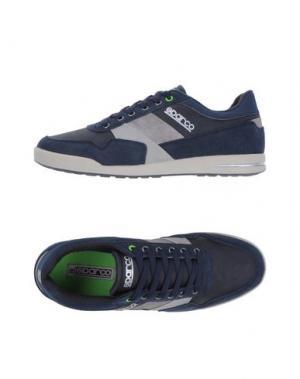Низкие кеды и кроссовки SPARCO. Цвет: темно-синий
