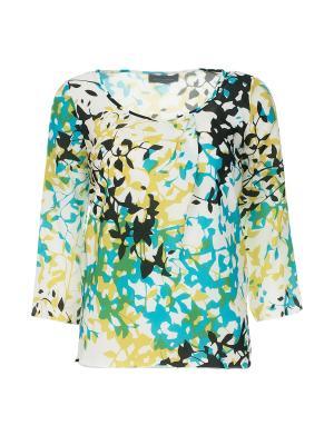 Блуза Piazza Sempione. Цвет: бирюзовый