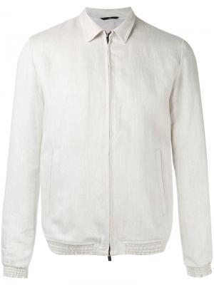 Легкая куртка на молнии Hevo. Цвет: телесный