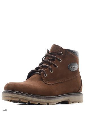 Ботинки ZET. Цвет: коричневый
