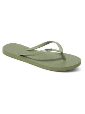 Пантолеты ROXY. Цвет: зеленый