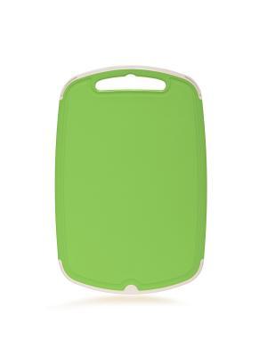 Доска разделочная Премиум 290*190 Полимербыт. Цвет: зеленый