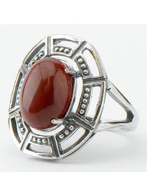 Кольцо Эдельвейс яшма Колечки. Цвет: коричневый