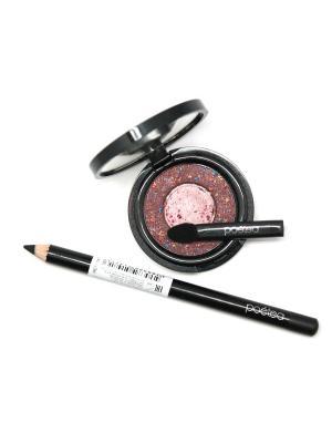 Набор декоративной косметики 2 по цене 1 POETEQ. Цвет: коричневый, золотистый, розовый, черный
