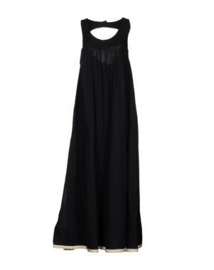Длинное платье SUOLI. Цвет: черный