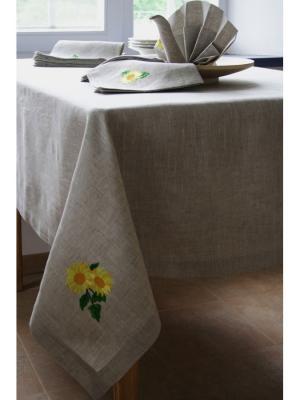 Комплект столовый Подсолнух LINO RUSSO. Цвет: светло-серый