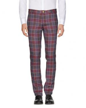 Повседневные брюки DOMENICO TAGLIENTE. Цвет: красно-коричневый
