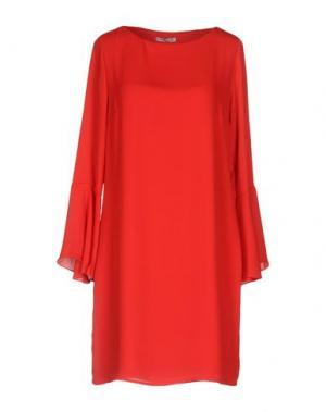 Короткое платье HOPE COLLECTION. Цвет: красный
