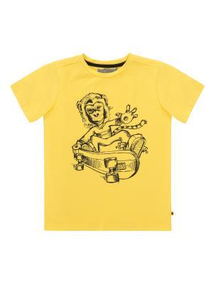 Футболка Deux par. Цвет: желтый
