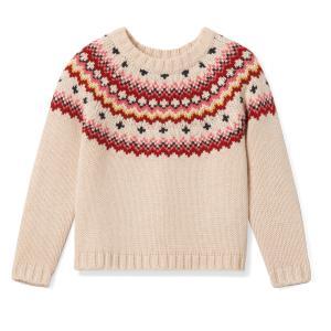 Пуловер жаккардовый, 3 - 12 лет La Redoute Collections. Цвет: экрю