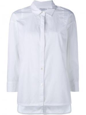 Рубашка с удлиненным подолом Frame Denim. Цвет: белый