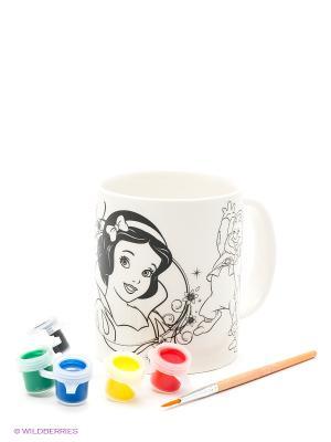 Кружка для росписи  Disney Золушка (краски/кисточка в комплекте) Multiart. Цвет: белый