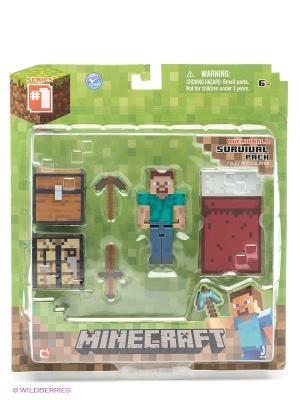 Набор фигурок для выживания Minecraft. Цвет: зеленый