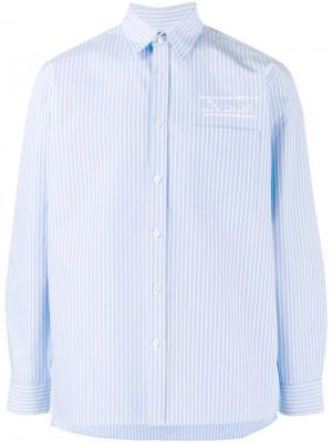 Рубашка в полоску Martine Rose. Цвет: синий