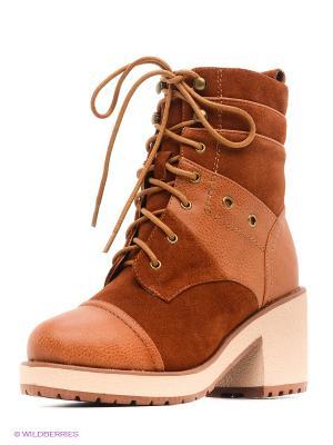 Ботинки Yaro. Цвет: рыжий