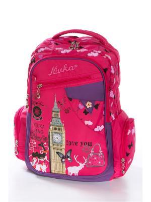 Рюкзак Vittorio Richi. Цвет: розовый, фиолетовый