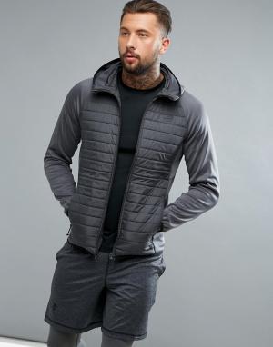 Jack & Jones Стеганая спортивная куртка Tech. Цвет: серый