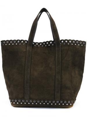 Средняя сумка-тоут Olive Vanessa Bruno. Цвет: зелёный