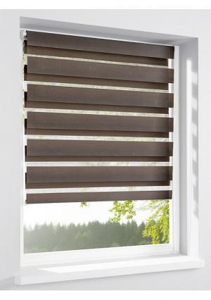 Римская штора Heine Home. Цвет: белый, коричневый, песочный