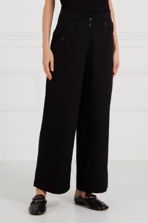 Хлопковые брюки с пуговицами Cyrille Gassiline. Цвет: черный