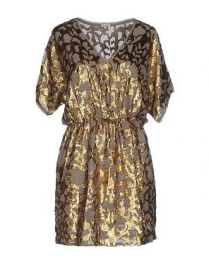 Короткое платье INTROPIA. Цвет: серый
