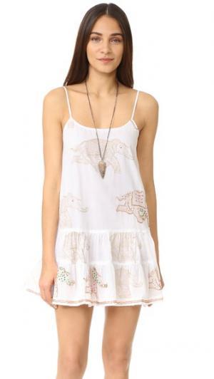 Платье без рукавов со слоном Juliet Dunn. Цвет: коричневый