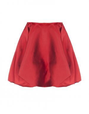 Шелковая юбка Harvey Faircloth. Цвет: красный
