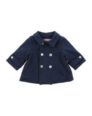 Пальто LA STUPENDERIA. Цвет: темно-синий