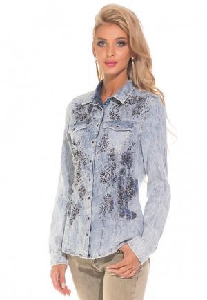 Рубашка джинсовая DSHE. Цвет: голубой