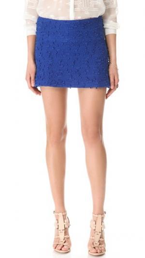 А-образная юбка Boucle Charles Henry. Цвет: синий