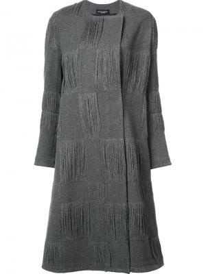 Пальто в текстурированную клетку Narciso Rodriguez. Цвет: серый
