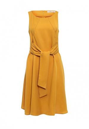 Платье Piazza Italia. Цвет: желтый