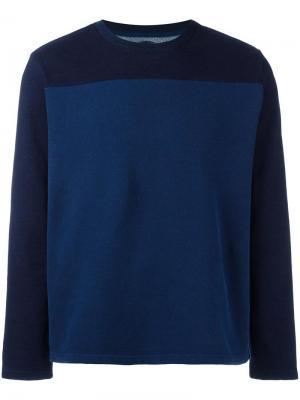 Толстовка дизайна колор-блок Blue Japan. Цвет: синий