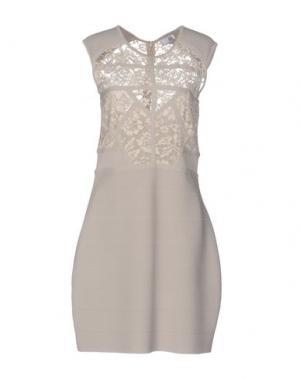 Короткое платье LIL POUR L'AUTRE. Цвет: бежевый