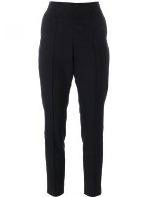 Укороченные брюки Hyke. Цвет: синий
