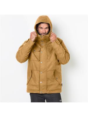 Куртка FORT NELSON JACKET Jack Wolfskin. Цвет: желтый