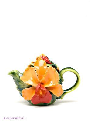 Заварочный чайник Pavone. Цвет: зеленый, оранжевый