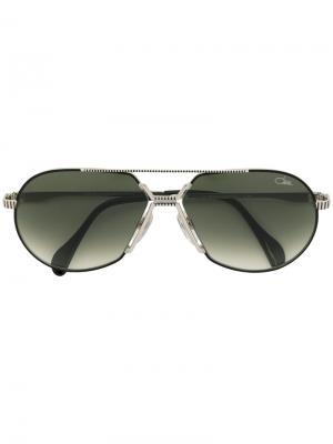 Солнцезащитные очки-авиаторы с затемненными линзами Cazal. Цвет: металлический