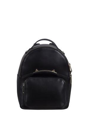 Рюкзак 1066 композиционная кожа Galanty. Цвет: черный