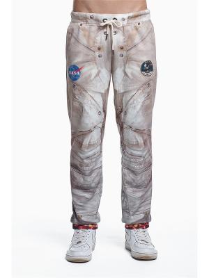 Брюки Apollo 11 FUSION. Цвет: коричневый, белый, горчичный