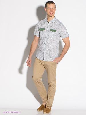 Рубашка F5. Цвет: белый, зеленый, сиреневый