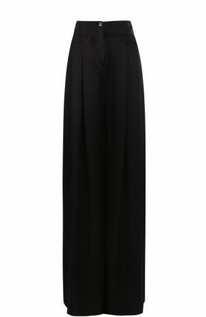 Шелковые широкие брюки с защипами Raquel Allegra. Цвет: черный