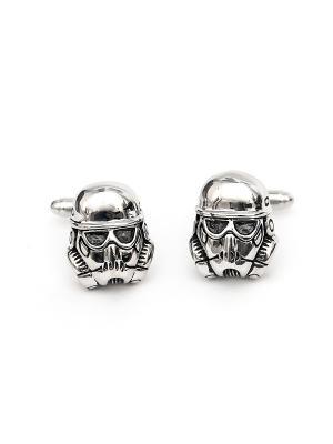 Запонки звездные войны - штурмовики Churchill accessories. Цвет: серебристый