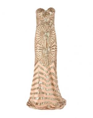 Длинное платье MUSANI COUTURE. Цвет: бежевый