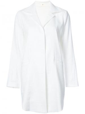 Пальто с накладными карманами Peter Cohen. Цвет: белый