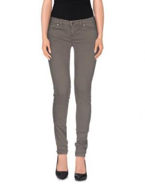 Джинсовые брюки ZERO. Цвет: свинцово-серый